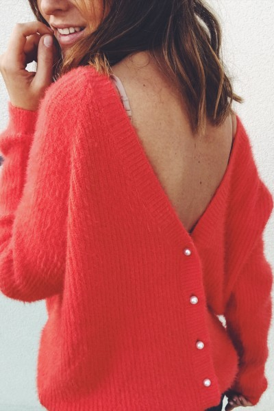 Pull-gilet Polo corail
