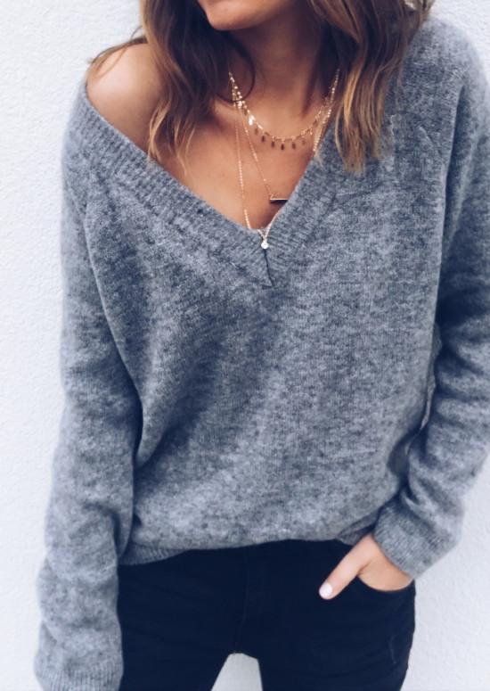 Dark grey Pullover Kath