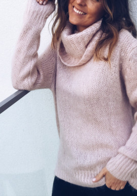 Powdered pink Pullover Bowie