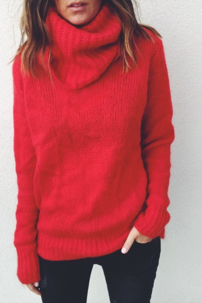 Pull Bowie rouge
