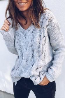 Grey Pullover Lodora