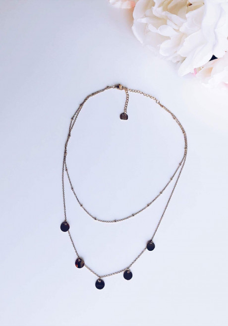 Pink gold Necklace Nolla