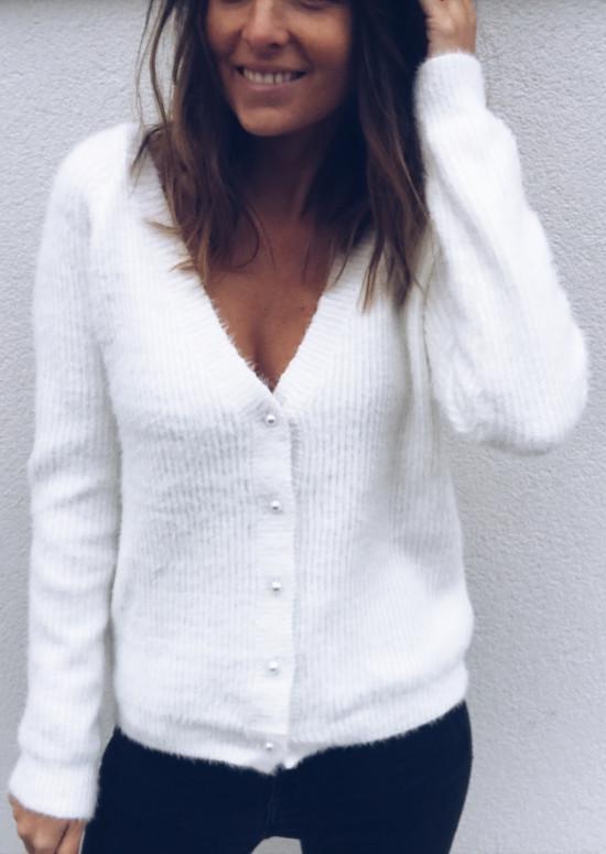 Gilet-pull Polo blanc