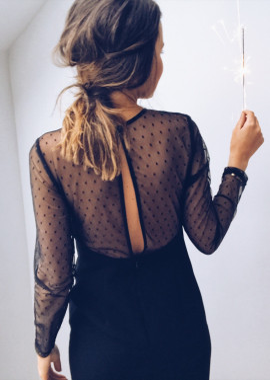 Robe Margaux noire