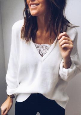 White Pullover Rachel