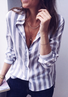 Blue and white Shirt Audre