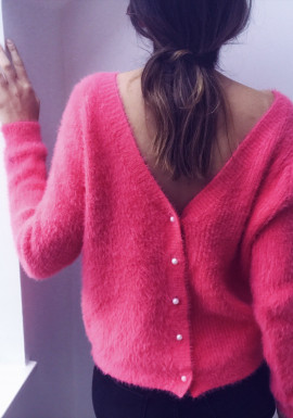 Pastel pink Cardigan-pullover Polo