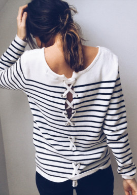 Black and white Pullover Christy