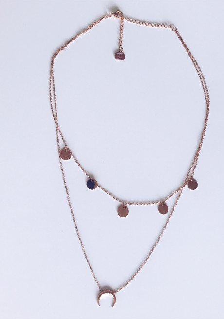 Pink gold Necklace Sina
