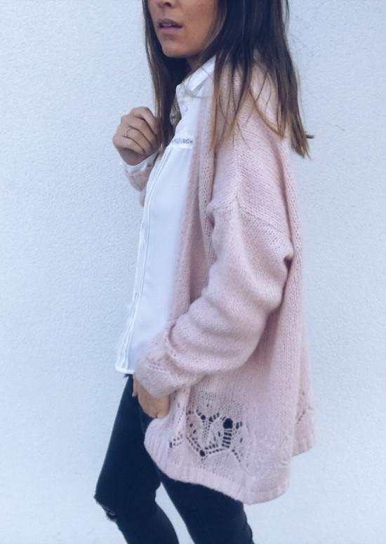 Powdered pink Cardigan Betsy