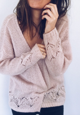 Powdered pink Cardigan Betsy