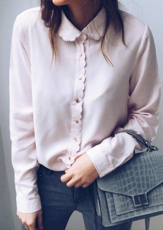 Chemise Heidi rose pâle