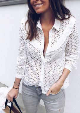 Chemise Carmen blanche