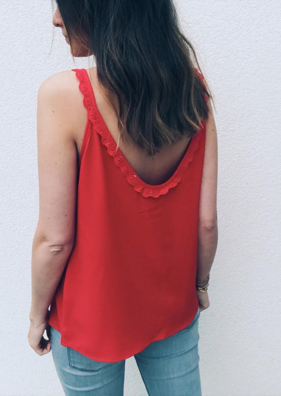 Top Gaelle rouge