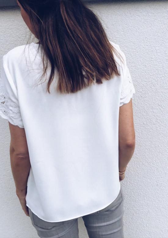 T-shirt Audrey blanc