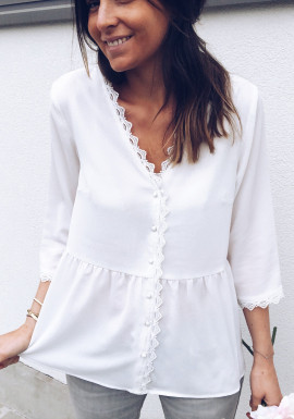Blouse Brook blanche