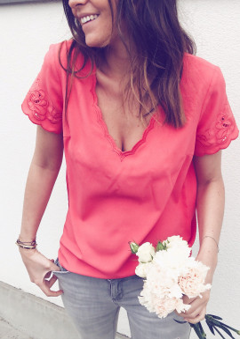 T-shirt Audrey corail