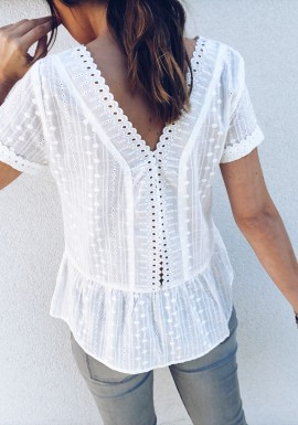 Blouse Olivia blanche
