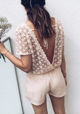 Pale pink Playsuit Connie