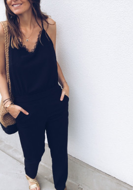 Black Playsuit Volly
