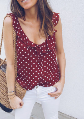 Mustard spotted Top Rossy