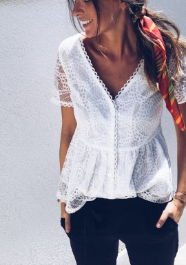 Blouse Claudia blanche