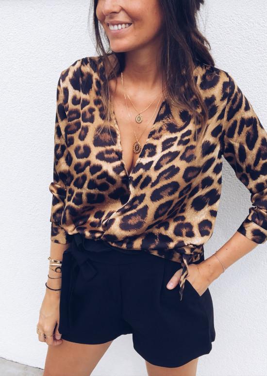 Blouse Béo léopard