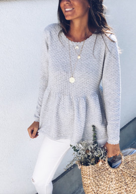 Light grey Pullover Candice