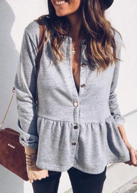 Grey Pullover - Cardigan Amaury