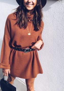 Brick Sweater dress Elyne