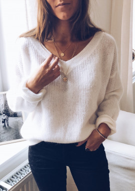 White Pullover Elana