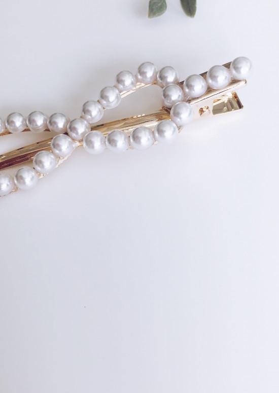Barrette Node à perles