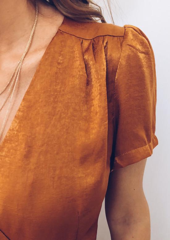 Robe longue Becca camel
