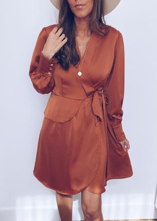 Faustine Brick Dress