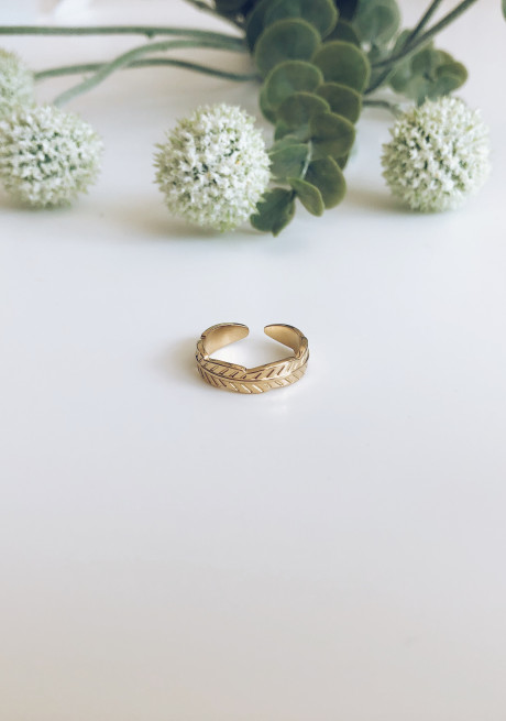 Golden Zia ring
