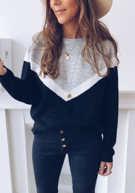 Black and white grey Marylou sweater