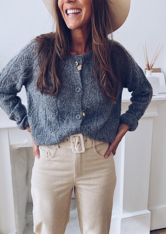Jersey sweater Nadia grey