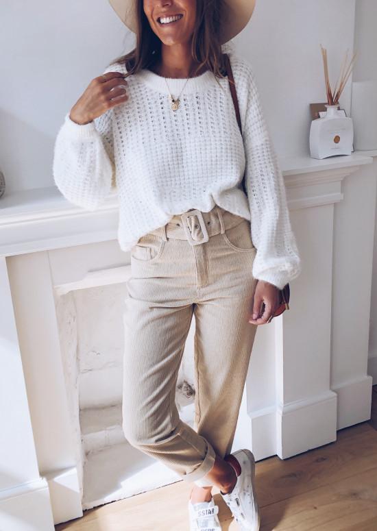 Pull Estelle blanc