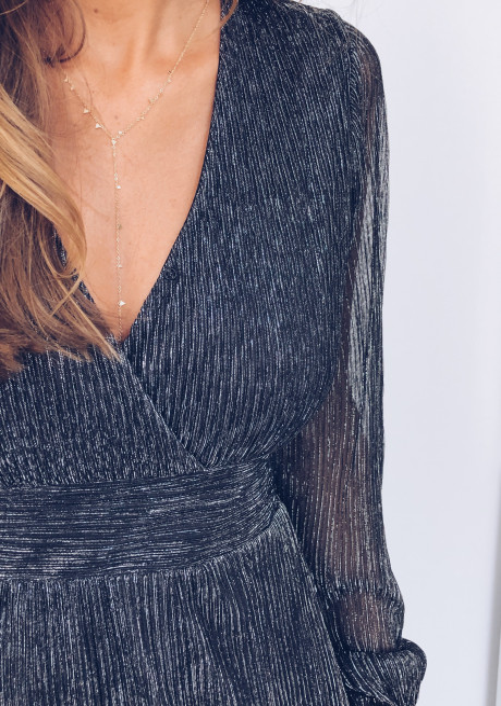Robe longue Kamila argentée