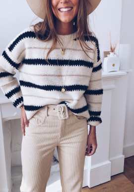 Brooklyn off-white patterned sweater