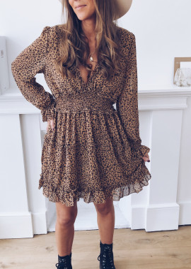 Amelina leopard dress