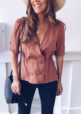 Catherine brick blouse