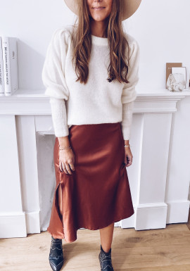Charline skirt with brick effect