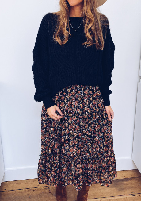 Clotilde flower skirt
