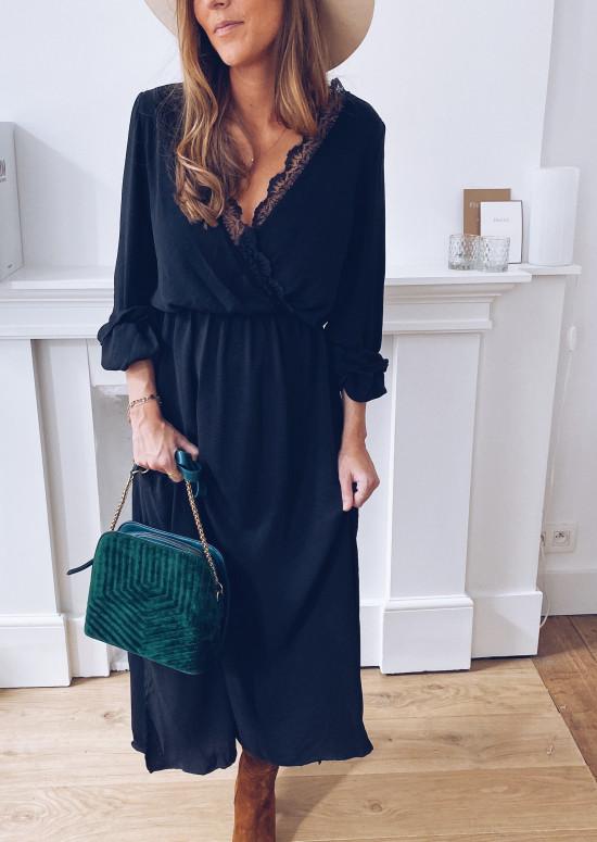 Sistine Black Dress