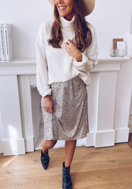 Amanda skirt with sequins