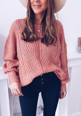 Ines dark pink sweater