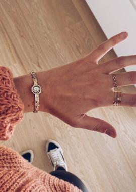 Multicolor gold colored bracelet