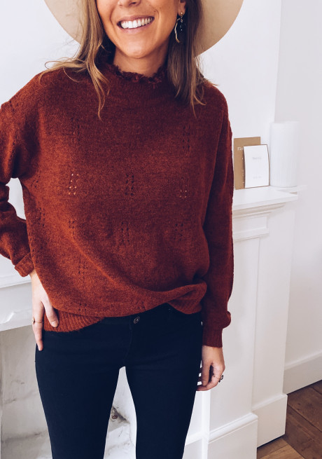 Brick Crice Sweater