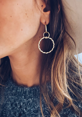 Golden Fina earrings